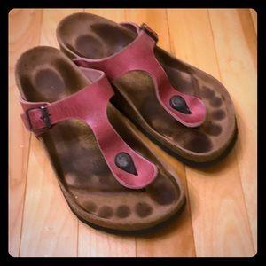 "Pink leather Birkenstock ""Gizah"""